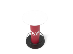Round bar table with a bar