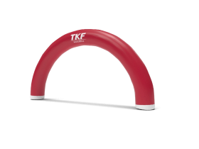 Arched inflatable gate