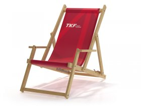 Promo Wooden Deckchair with an armres
