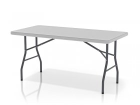 Foldable table with non-divided table surface