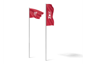 Untypical tailor-made flags