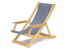 Wooden advert deckchairs